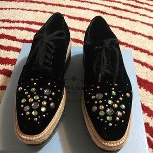 Prada platform shoes, size 40.5